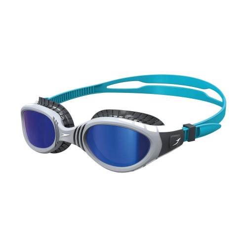 Speedo Futura Biofuse Flexiseal Mirror Goggles in Grey Blue