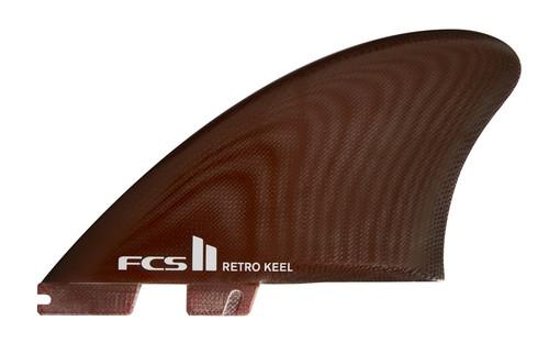 FCS II Retro Keel PG Twin Fins in XL