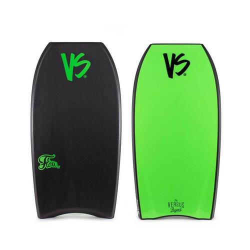VS Flow PE 38in Bodyboard in Black Fluro Green
