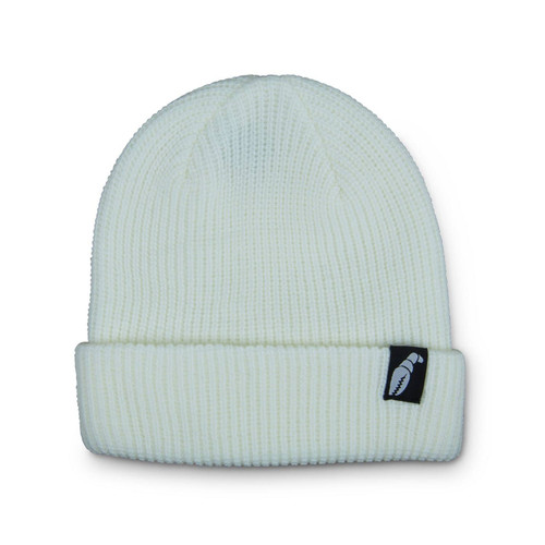 Crab Grab The Claw Label Beanie in White