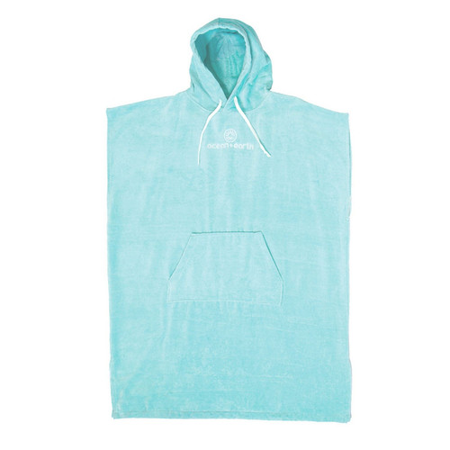 Ocean And Earth Day Dream Hooded Poncho Ladies in Pale Aqua