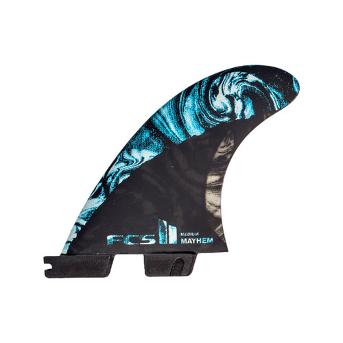 FCS II MB PC Carbon Medium Tri-Quad Fin Set in Blue