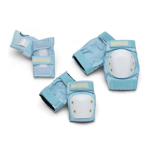 Impala Youth Protective Pad Set in Sky Blue Yellow
