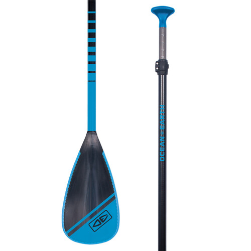 Ocean And Earth Fiberglass Shaft Plastic Blade Paddle in Blue