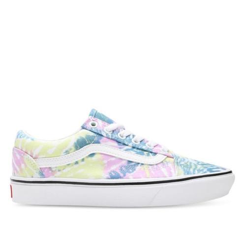 Vans Comfycush Old Skool Tie Dye Shoes in Orchid True White