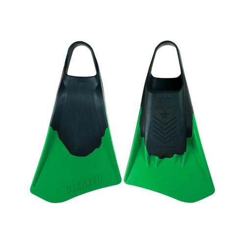 Stealth S4 Fins in Black Fluro Green