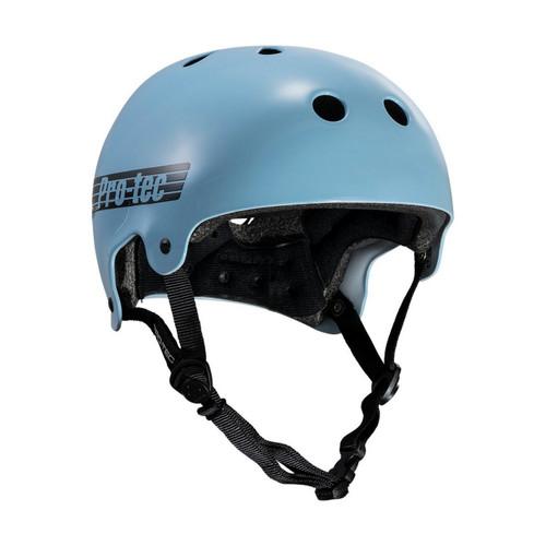 Protec Old School Certified Helmet in Gloss Baby Blue