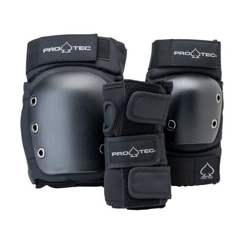 Protec Street Gear Junior 3 Pack Open Back in Black