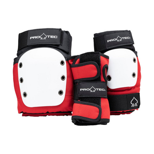 Protec Junior Street Gear 3 Pack in Red White Black