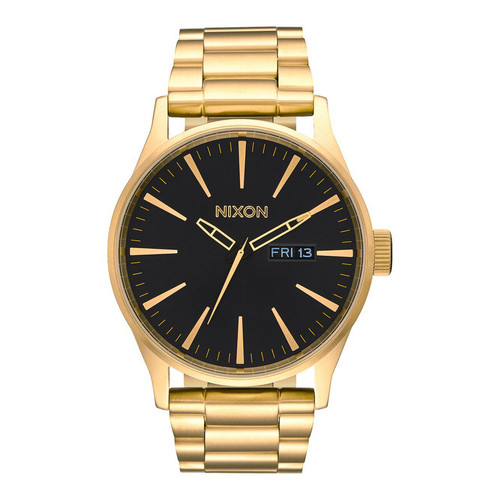 Nixon Sentry Stainless Steel Watch Mens in All Gold Black