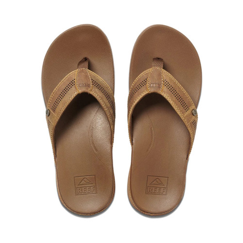 Reef Cushion Bounce Lux Thongs Mens in Toffee