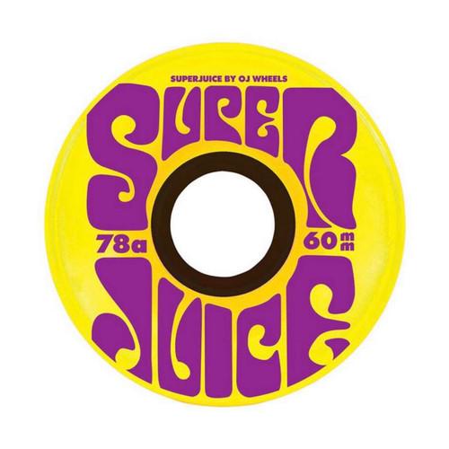 OJ Wheels Super Juice 60MM 78A Skate Wheels in Yellow