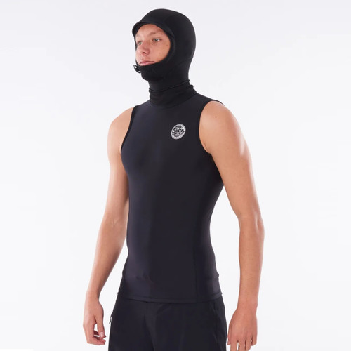 Rip Curl Flashbomb Polypro Hooded Vest in Black