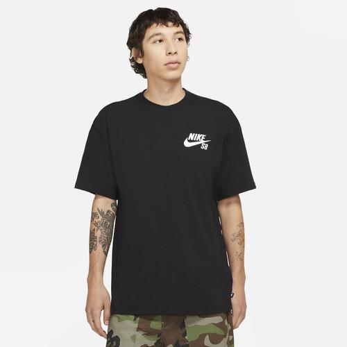 Nike SB Logo Skate Tee Mens in Black White