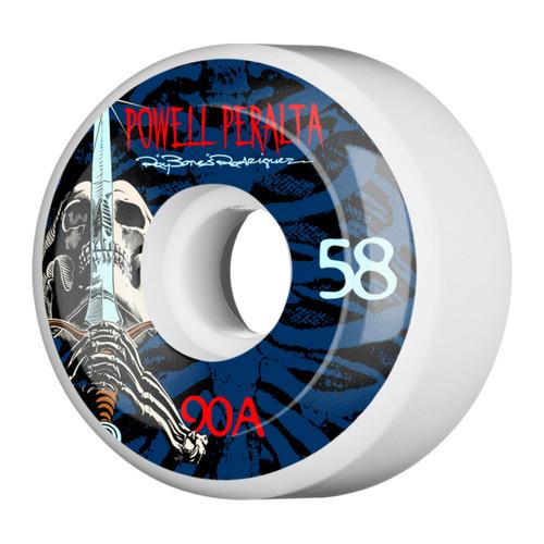 Powell Peralta Skull and Sword 58MM Skate Wheels in White
