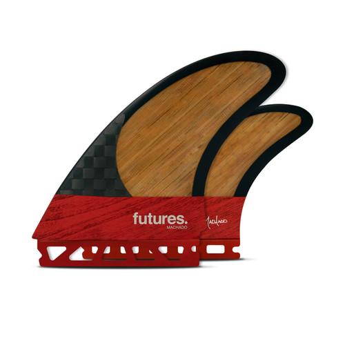 Futures Machado Twin +1 Blackstix 3.0 Fin Set in Red