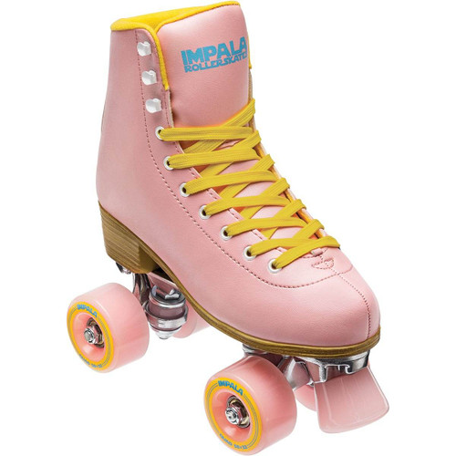 Impala Quad Rollerskate in Pink Yellow