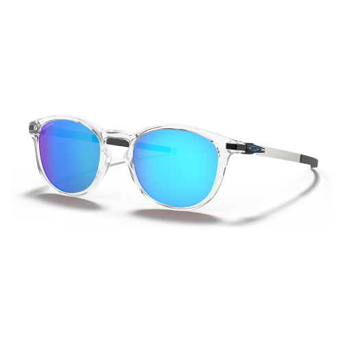 Oakley Pitchman R Sunglasses in Polished Clear Prizm Sapphire