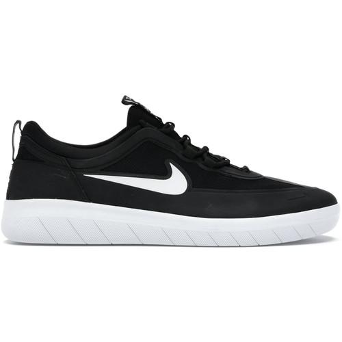 Nike SB Nyjah Free 2 Shoes Mens in Black White