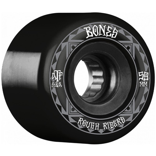 Bones ATF Rough Riders Runners 59MM Skate Wheels in Black