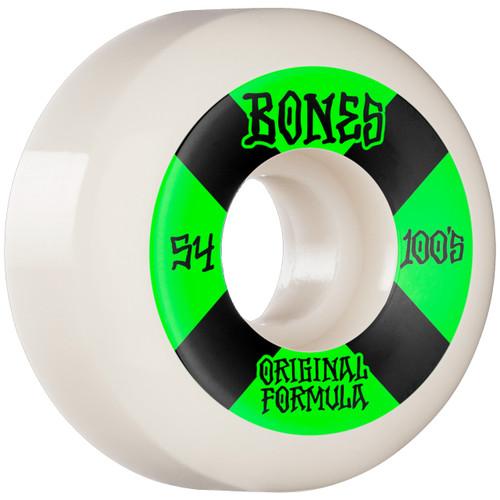 Bones 100s V5 54MM Skate Wheels in White