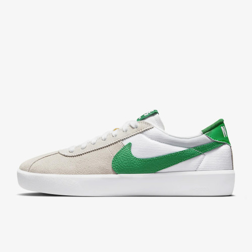 Nike SB Bruin React Shoes Mens in White Lucky Green