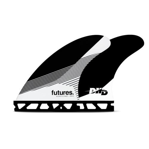 Futures DHD Honeycomb Medium Thruster Fin Set in Black White