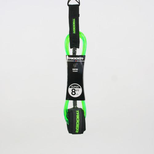 Trigger Bros 8ft Super Leash in Clear Fluro Green