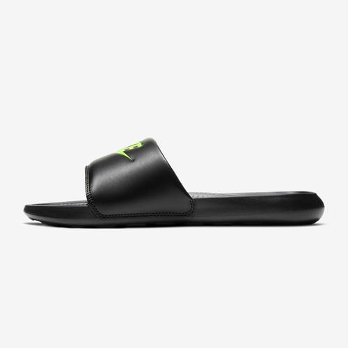 Nike Victori One Slide Mens in Black Volt Black