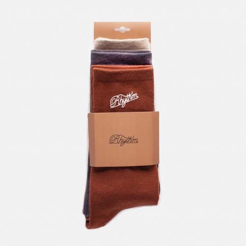 Rhythm Essential Sock 3 Pack Mens in Multi
