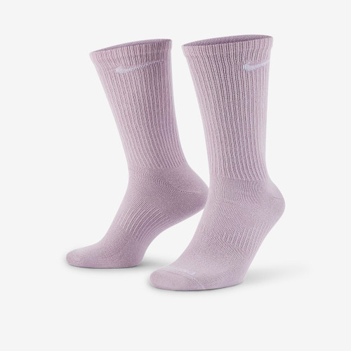Nike SB Everyday Plus Lightweight Crew Sock 3 Pack in Multi Purple Green White