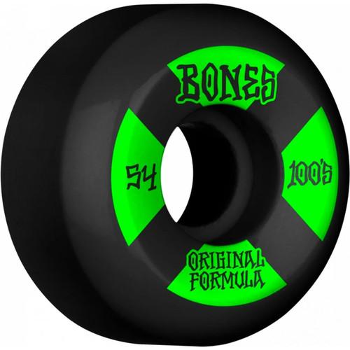 Bones 100s V5 54MM Skate Wheels in Black