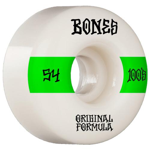 Bones 100s V4 54MM Skate Wheels in White