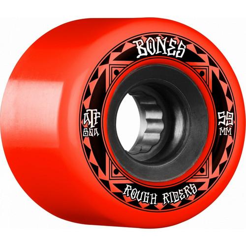 Bones ATF Rough Riders 59MM Skate Wheels in Red