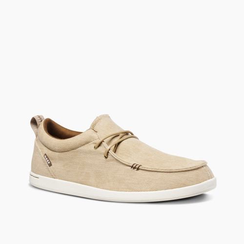 Reef Cushion Skimmer Washed Canvas Shoes Mens in Sandstone