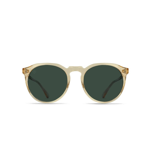 Raen Remmy 49 Sunglasses in Champagne Crystal Green