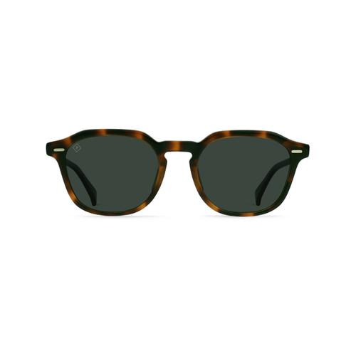 Raen Clyve 52 Sunglasses in Espresso Tortoise Green Polarised