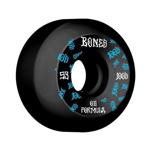 Bones 100s V5 Black 53MM Skate Wheels