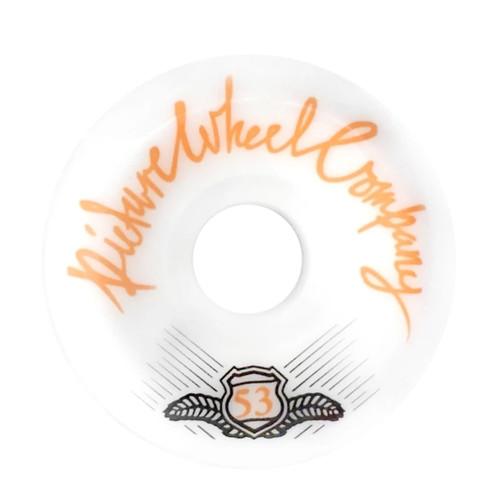Picture Wheel Co Pop 53MM 99A Skateboard Wheels in Tangerine on White
