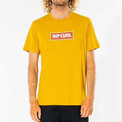Rip Curl Big Mumma Icon Tee Mens in Mustard