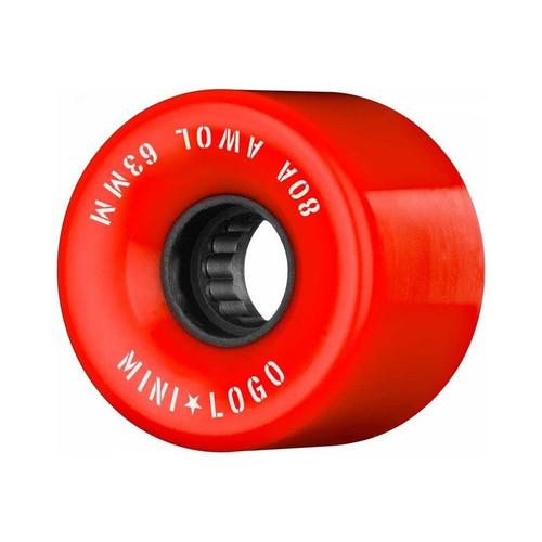 Mini Logo AWOL 63MM Skate Wheels in Red