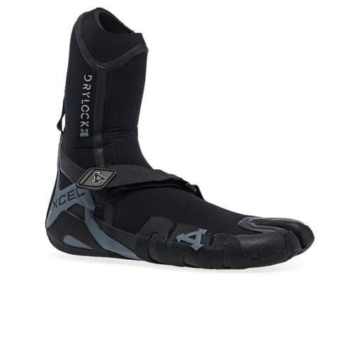 Xcel 5MM Drylock Split Toe Booties in Black Grey