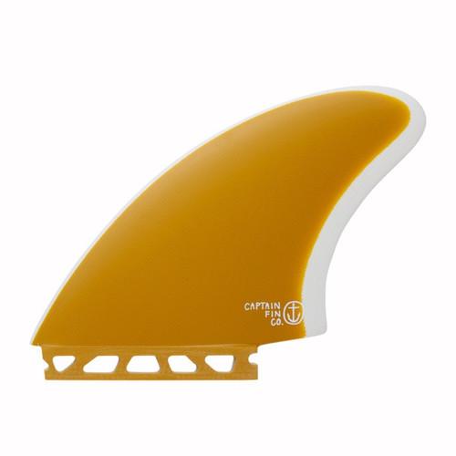 Captain Fin Co Keel Fin Set Single Tab in Yellow