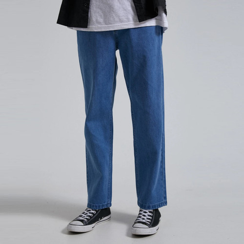 Afends Ninety Twos Hemp Denim Relaxed Jean Mens in Classic Blue