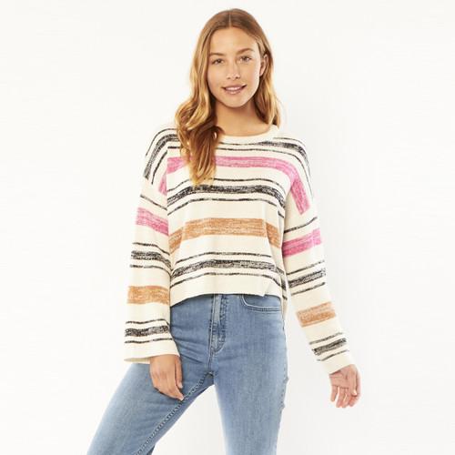 Sisstrevolution Warm Horizons Knit Sweater Womens in Coconut