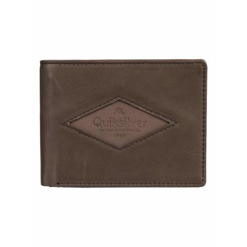 Quiksilver Tenderboat Wallet Mens in Chocolate Brown