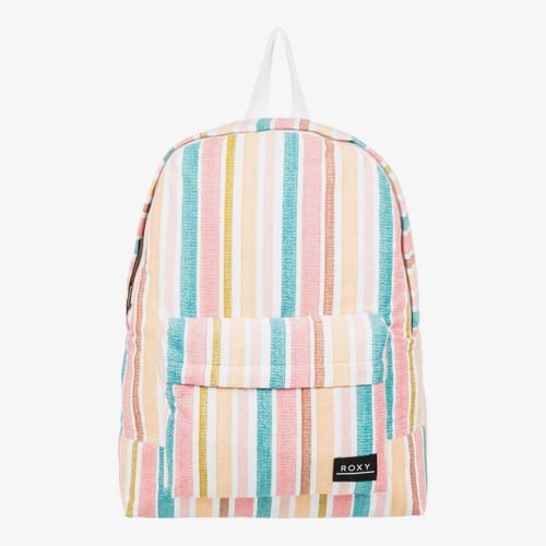 Roxy Sugar Baby Canvas Backpack Womens in Bright White Aloha Stripe