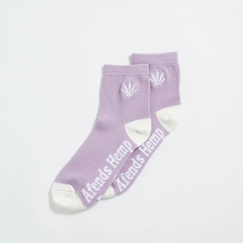 Afends Happy Hemp Ankle Sock Womens in Lilac