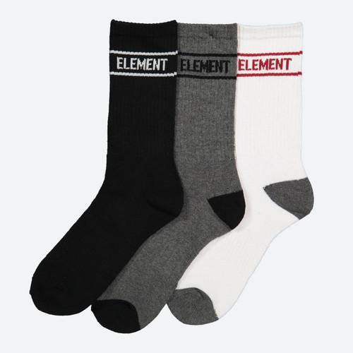 Element Sports Sock 5 Pack Mens in Multi Black Grey White
