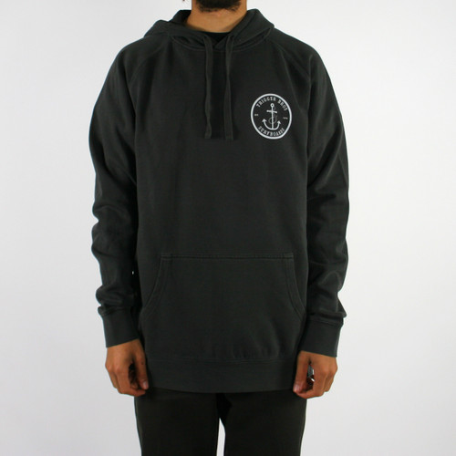 Trigger Bros Anchor Hoodie Mens in Faded Black